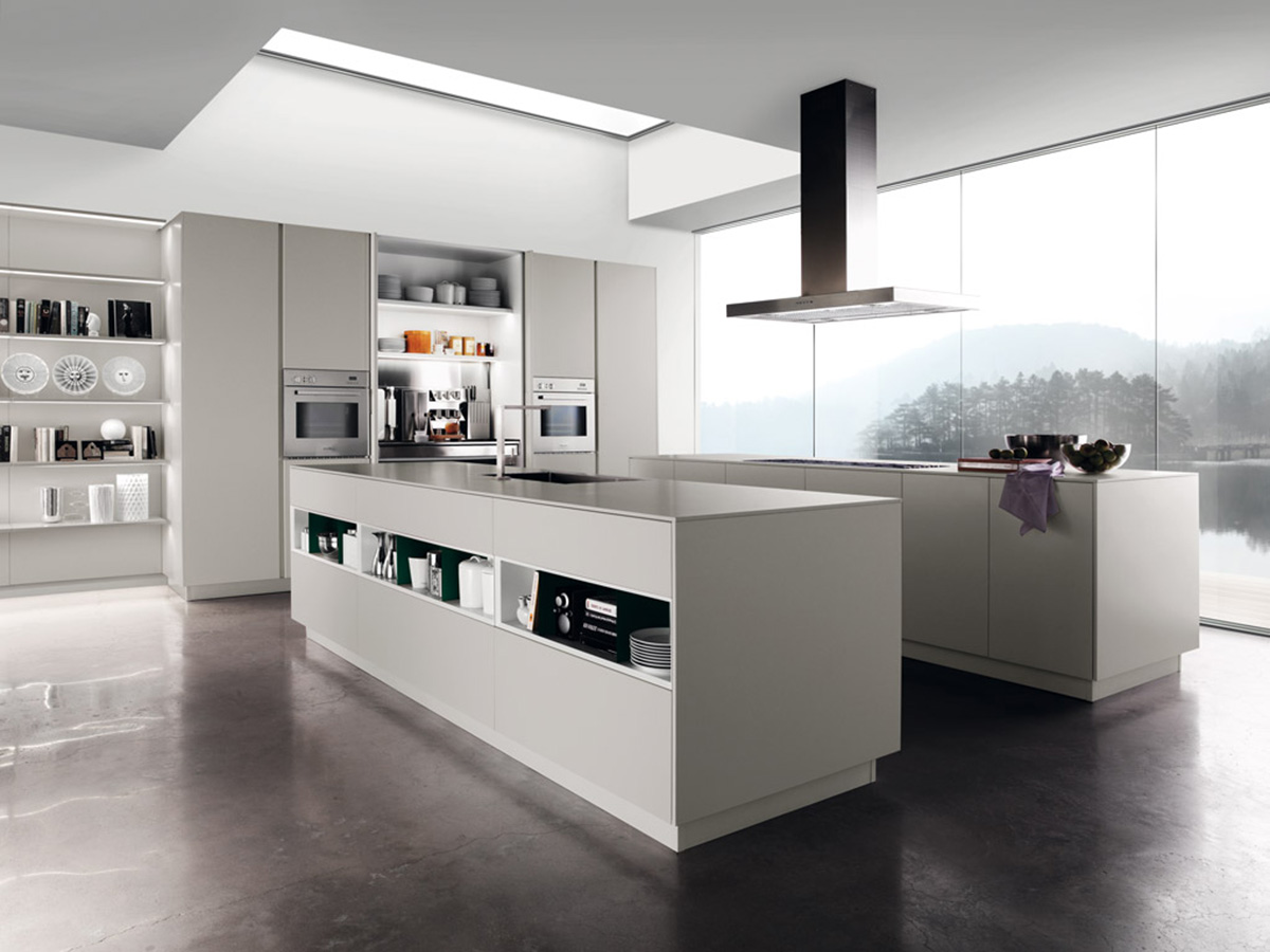 Kitchen :: Miton :: Miton Sincro Matt Glossy Wood